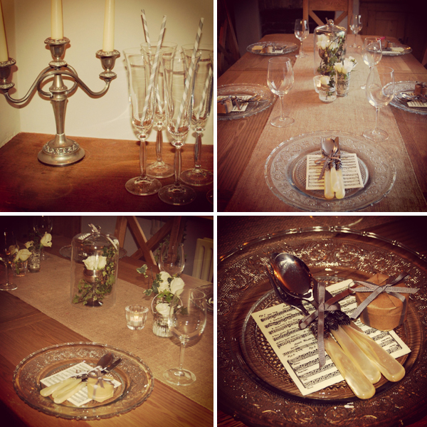White Company inspired tablescape