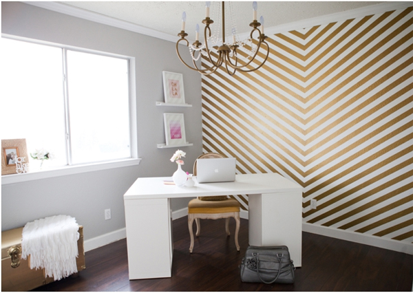 Gold Chevron Walls