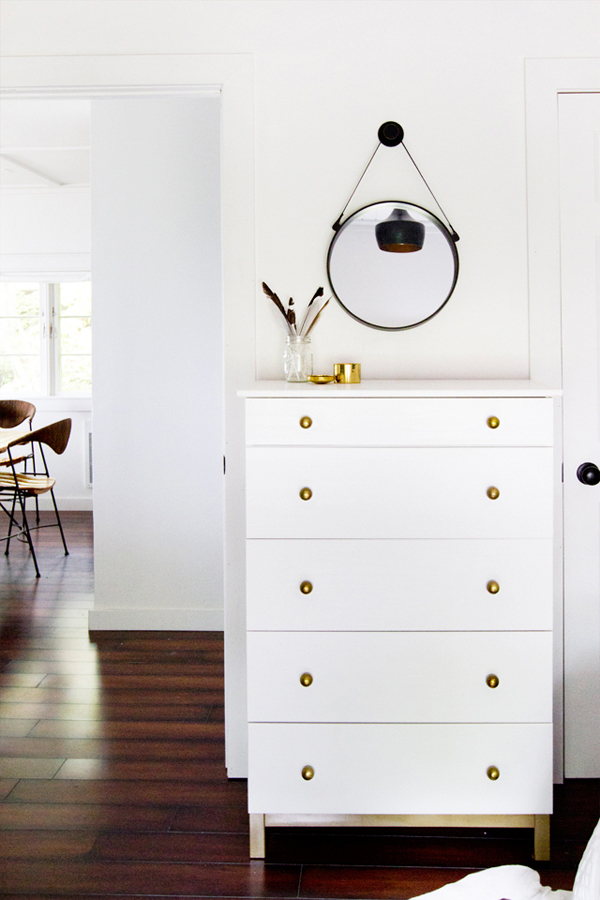 White and Gold Drawers at Sarah Sherman Samuel's Cabin