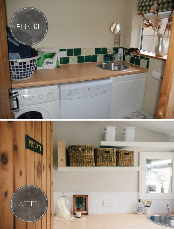 Before and After Natural Utility Room