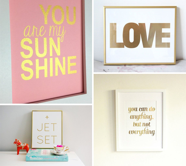 Gold Foil Etsy Prints 1